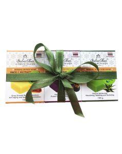 Zestaw trzech roślinnych mydeł: miód, mangostan, aloes, 3x100g